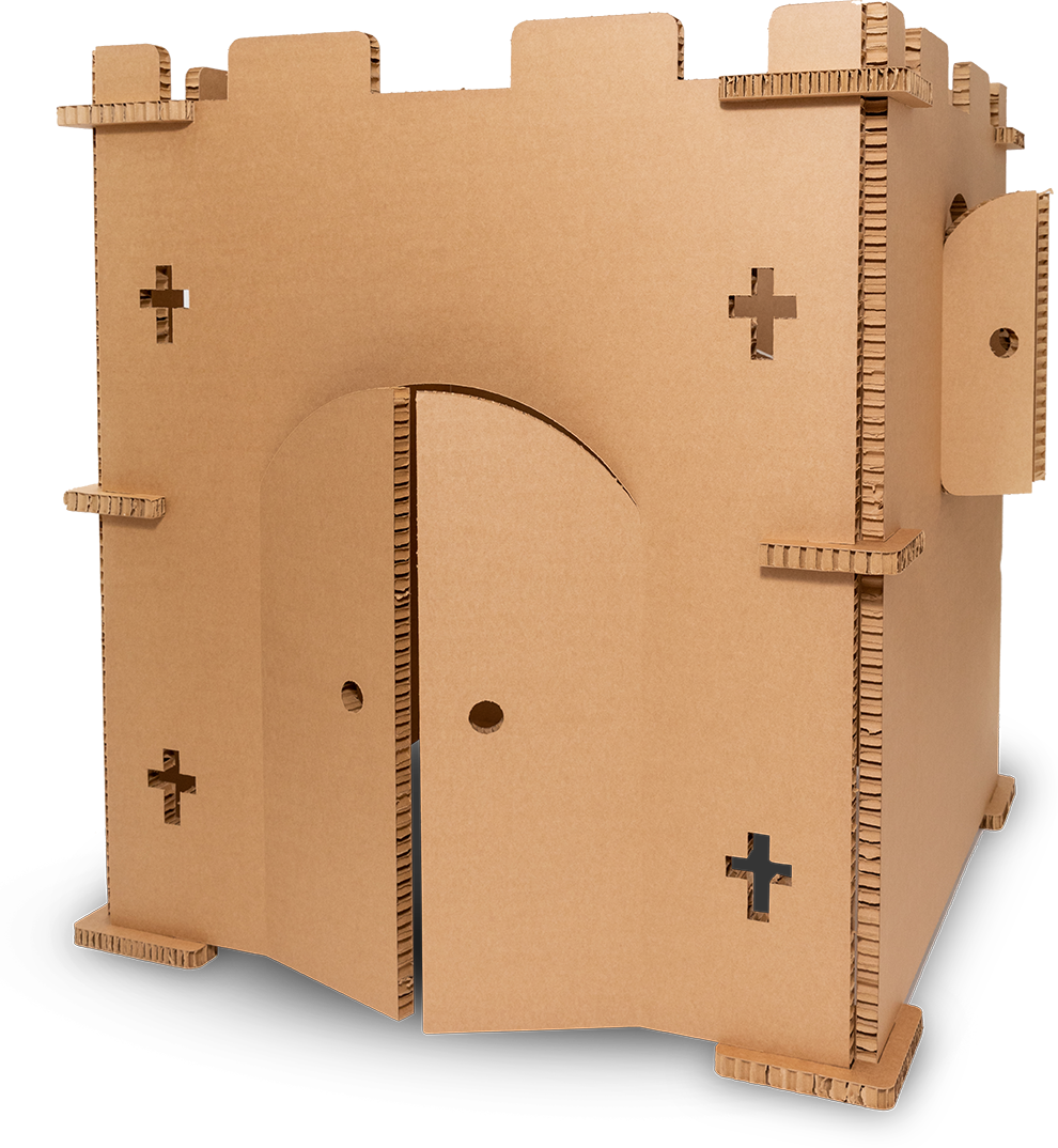 PALLITE® Paper Hive® Cardboard Playhouse Castle